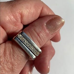 Sterling Silver Guess Rings (3 piece)